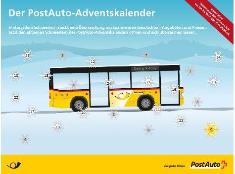 Adventskalender von Postauto