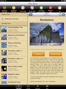 App Map and Walks Bern - Reiseführer und Stadtplan