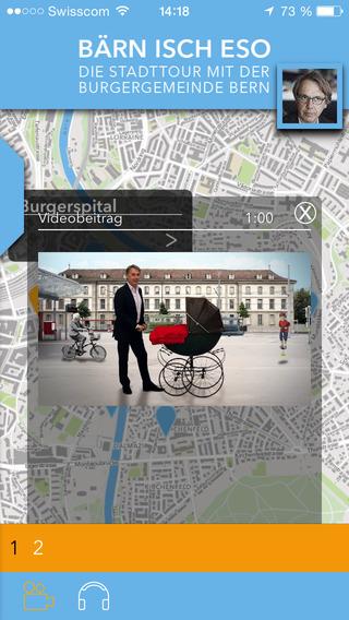 Bärn isch eso - das Stadtführer-App für Bern