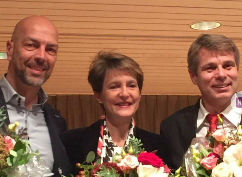 Roberto Bernasconi, Simonetta Sommaruga, Christophe Ammann