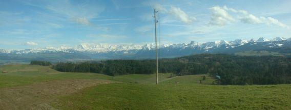 Das Alpenpanoram von der Bütschelegg aus
