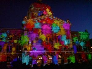 Lichtshow Bundesplatz