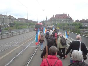 Ostermarsch 2014 - ein friedlicher Fanmarsch durch Bern
