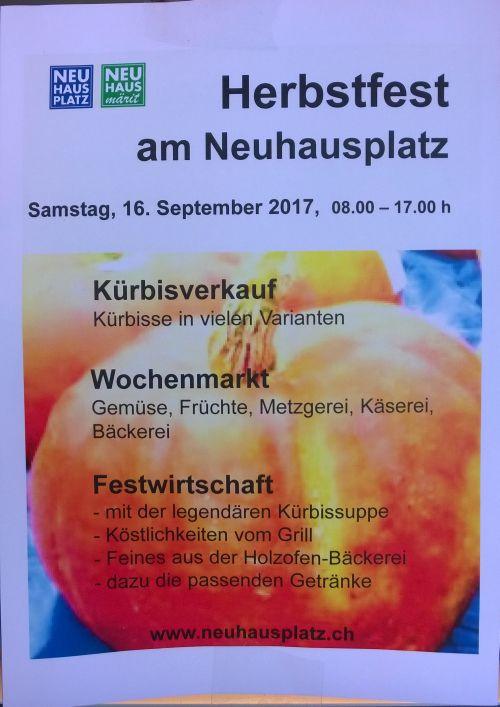 Flyer Herbstfest Neuhausplatz 2017