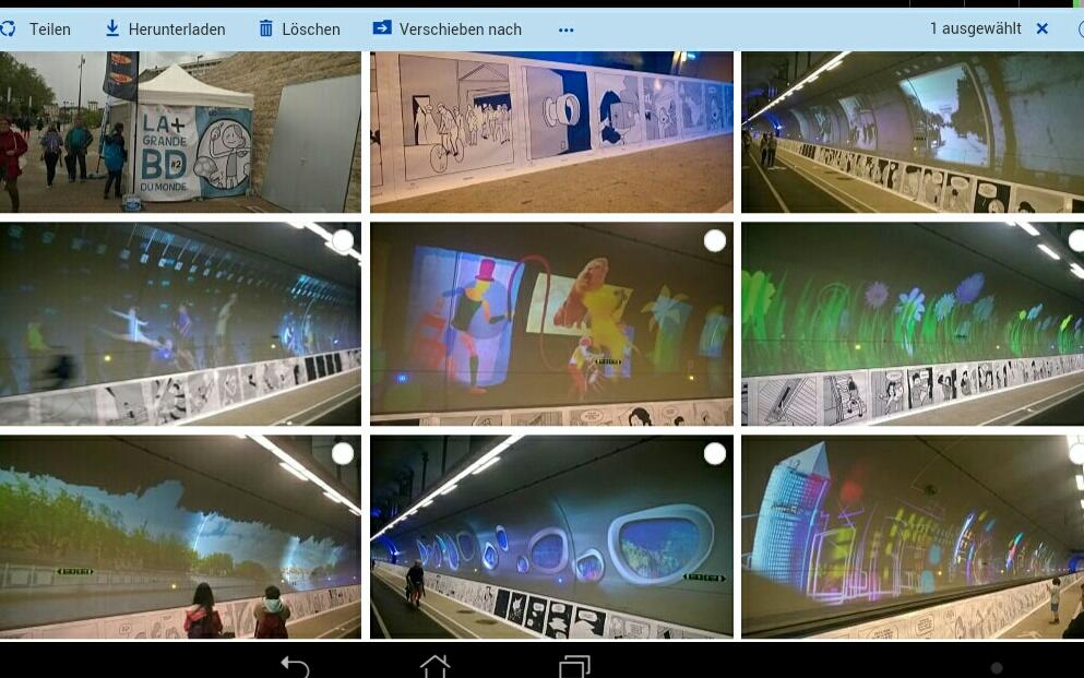 Der längste Comic der Welt im Tunnel mode doux Croix -Rousse in Lyon