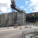 Der Lift Katarinahissen bietet eine schöne Aussicht über Slussen