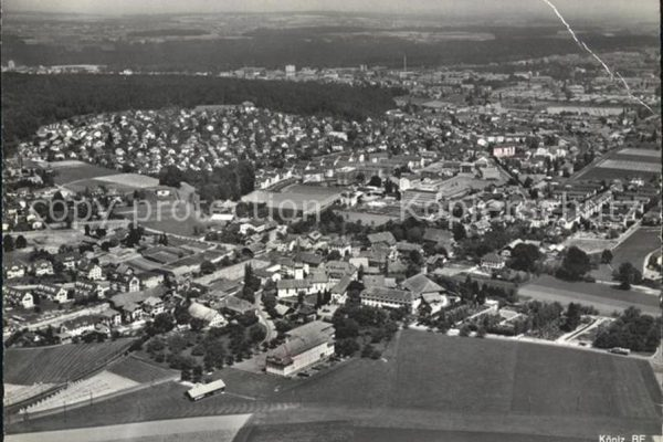 Flugaufnahme von Köniz 1958