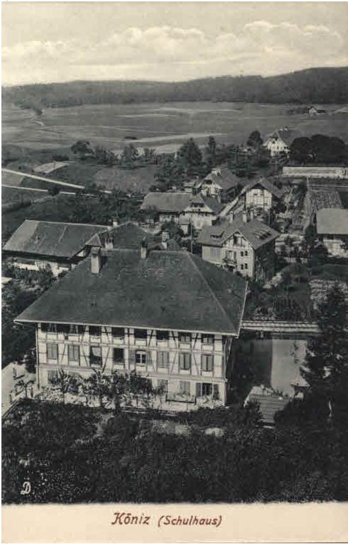 Altes Dorfschulhaus von Köniz (zVgst Staatsarchiv Kanton Bern)