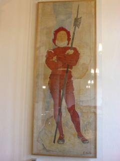 Schweizer Krieger, Gemäde von Ferdinand Hodler in der Berner Rathaushalle