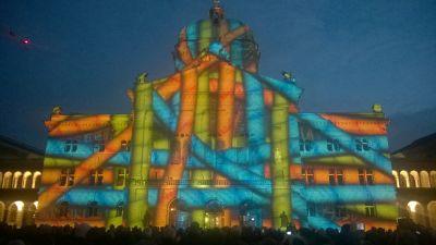Lichtspektakel Bundeshaus 2015