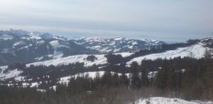 Panorama Richtung Schwarzsee. Links im Bild Hotel und Ferienhäuser Ottenleuenbad