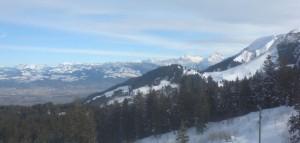 Aussicht von der Wasserscheide Richtung Oberland