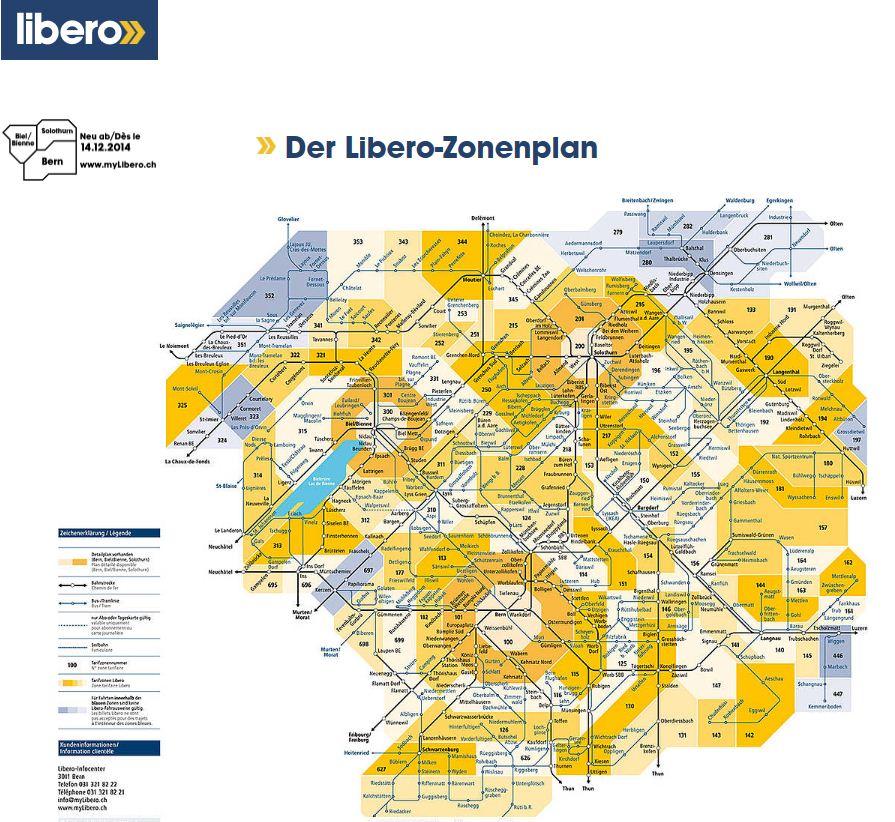 Zonenplan Libero 2015