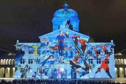 Lichtshow Bundeshaus 2013