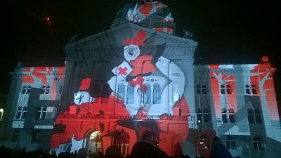 Lichtshow Bundeshaus 2016