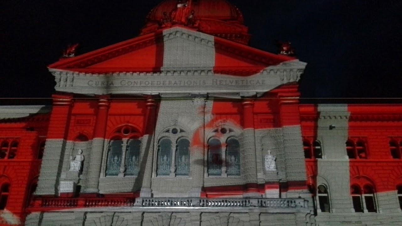 Lichtshow Bundeshaus 2016 - Tolles Lichtspektakel zu Ehren des Roten ...