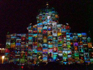 Lichtshow Bundeshaus Bern 2014