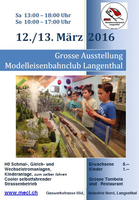 Ausstellung Modelleisenbahnclub Langenthal 2016