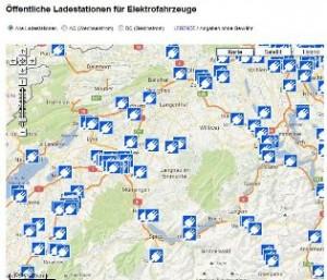 Karte Oeffentliche Ladestationen Elektroautos