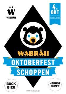 Oktoberfest Schoppen der Brauerei Wabräu