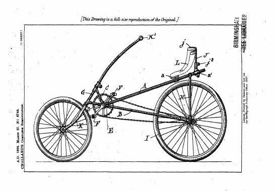 Zeichnung des Bicylette Normale