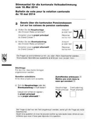 Abstimmung Pensionskassengesetz Kanton Bern