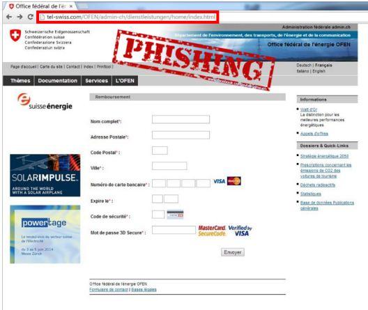 Phishing Mail Bundesamt für Energie BFE