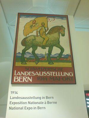 Plakat der Schweizerischen Landesausstellung in Bern 1914 nach dem mit dem 1. Preis ausgezeichneten Entwurf von Emil Cardinaux, Bern, ausgeführt von der graphischen Anstalt J. E. Wolfensberger, Zürich (Quelle. bern-1914.org)