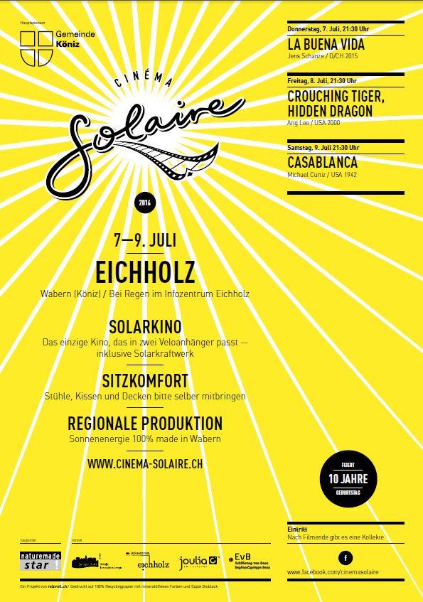 Cinema Solaire - Programm 2016