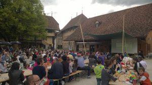 EM 2016 Public Viewing im Schlosshof Köniz anlässlich des Spiels Schweiz - Rumänien