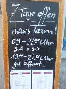 Öffnungszeiten (Stand 14.3.2014)