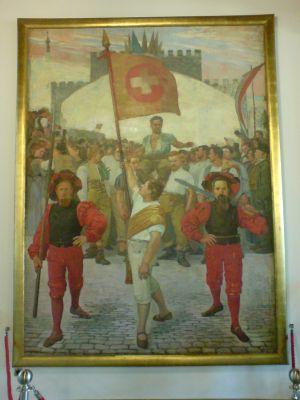 Ferdinand Hodler, Schwingerumzug, 2. Fassung, 1884