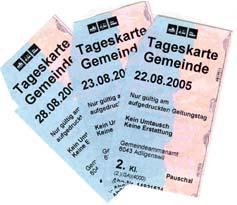Tageskarten SBB Gemeinde Köniz