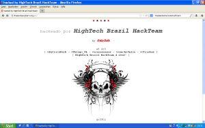gehackte Internetseite der Thailändischen Botschaftg Bern
