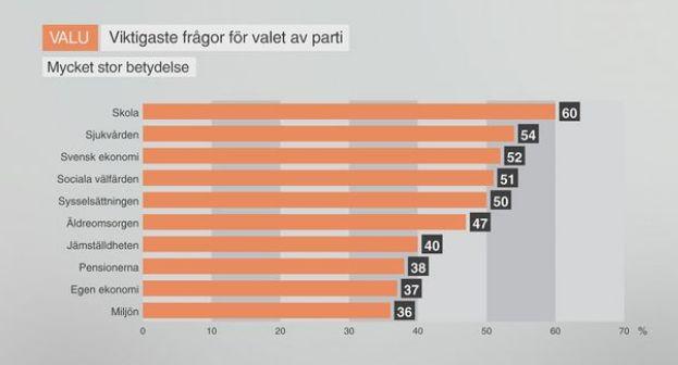 Wahlen Schweden 2014 - welche Fragen beschäftigen die Wähler am meisten?