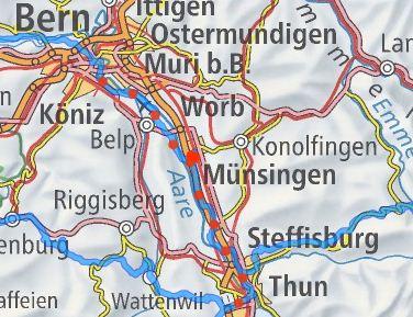 Veloweg Bern - Thun