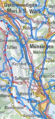 Veloroute 74 - Veloweg Thun - Gürbetal - Bern