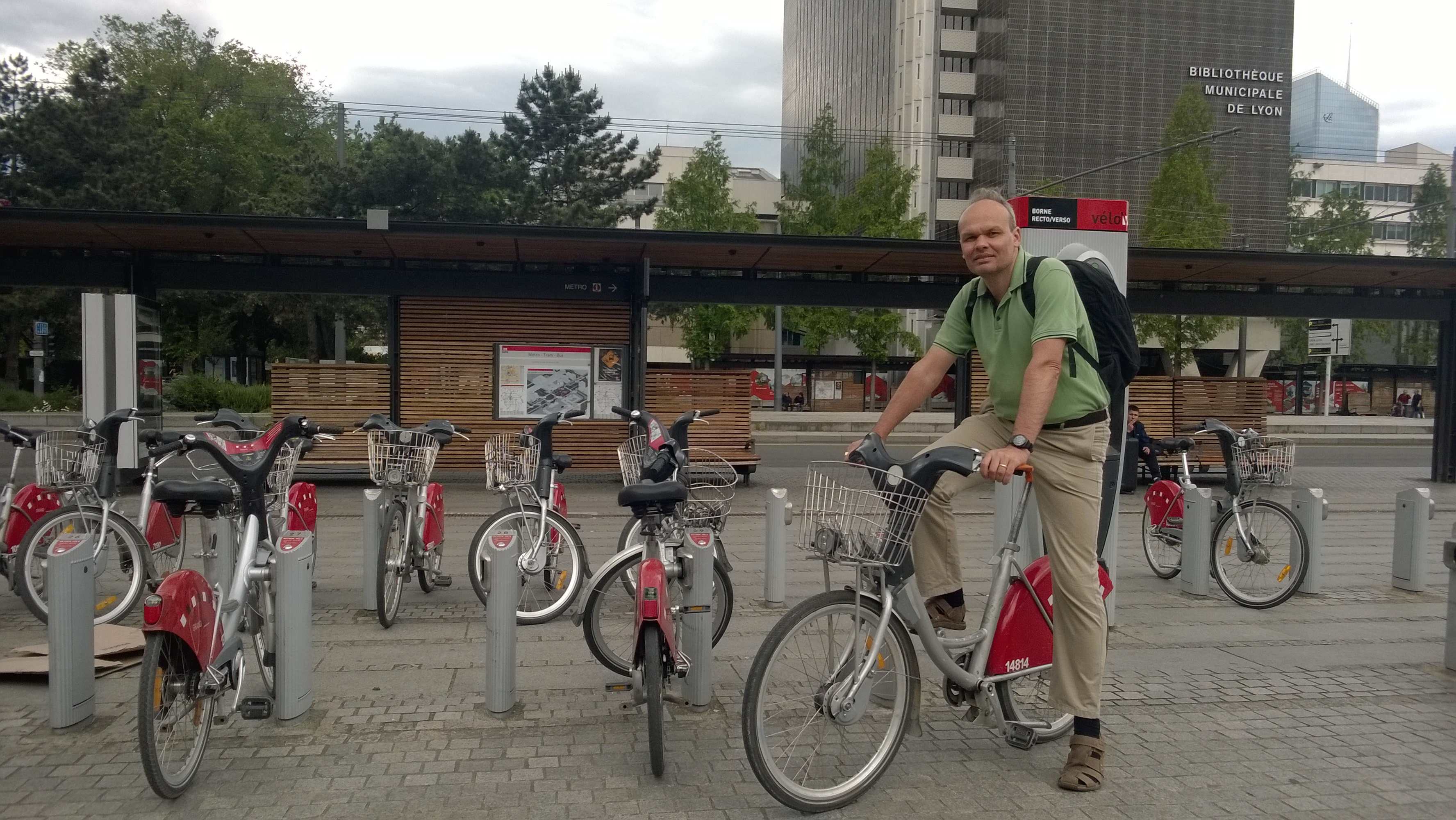 bike to work mit Velo'v in Lyon