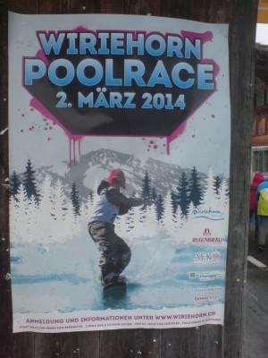 Plakat Wiriehorn Poolrace 2014