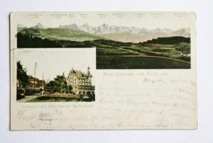 Ansichtskarte Alpenpanorama vom Gurten aus um 1903