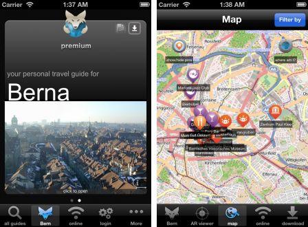 Städteführer und Stadtplan-App für Bern für iOs und Andriod