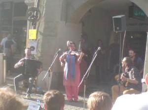 Caci Vorba, Karpatische Gypsy Fusion, am Buskers Bern 2014