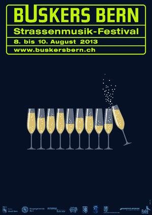 Plakat Buskers Bern 2013