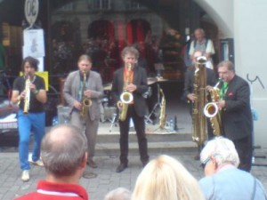 Klapparat, Tribute to Adolphe Sax, am Buskers Bern 2014
