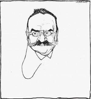 Charles Albert Gobat, Zeichnung von Frieda Liermann, Grüner Heinrich 1907