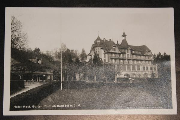 Ansichtskarte Hotel Restaurant Gurten Kulm 1927