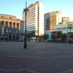 Hötorget mit Konzerthaus und den Hötorgshallen