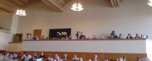 Pressetribüne im Rathaus anlässlich der Debatte zur Lösung der Jurafrage