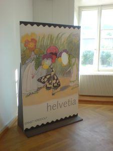 Die Riesenbriefmarke mit einem Sujet von Ernst Kreidolf