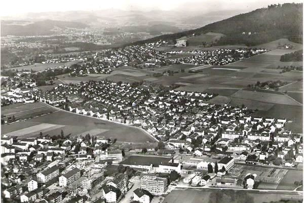 Flugaufnahme Liebefeld Köniz 60er Jahre